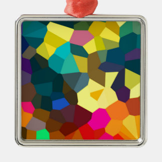 Colored Crystals Metal Ornament