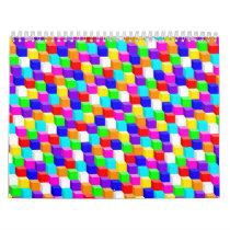 Colored cubes calendar