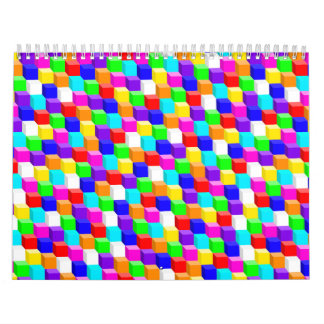 Colored cubes calendar