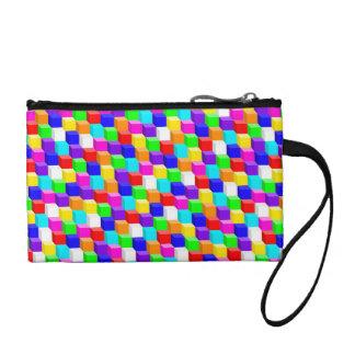 Colored cubes change purse