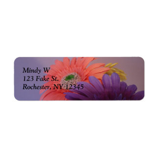 Colored Daisies Address Label