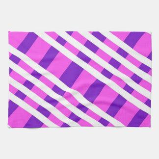 Colored Diagonal Stripes Towel