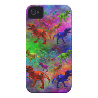 Colored Dinosaurs on Pastel Background Case-Mate iPhone 4 Case