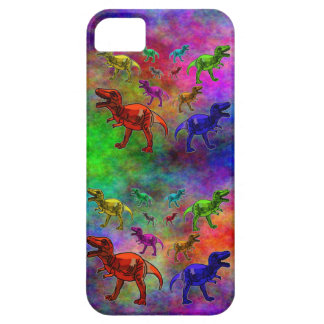 Colored Dinosaurs on Pastel Background iPhone SE/5/5s Case