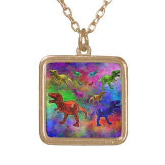Colored Dinosaurs on Pastel Background Custom Jewelry
