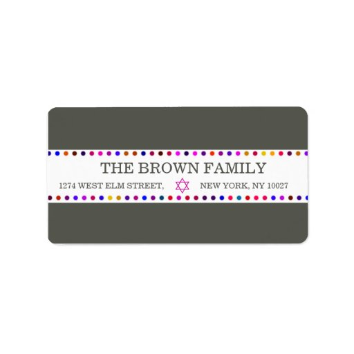 Colored dots address labels zazzle for Colored mailing labels