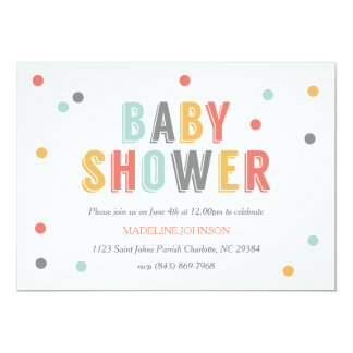 Colored Dots Baby Shower Invitation