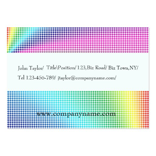 Colored Dots Business Card Template