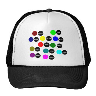 Colored Dots Hats