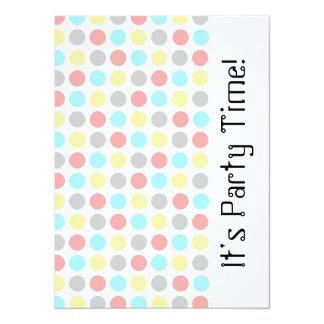 Colored Dots Invitation Card