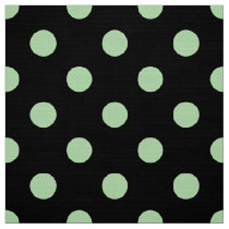 colored dots on black pattern fabric