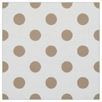 colored dots on white pattern fabric