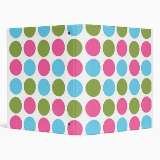 Colored Dots School Notebook 3 Ring Binder