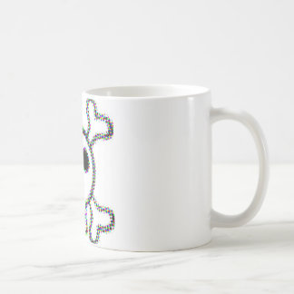 Colored Dots Skull and Crossbones Coffee Mug