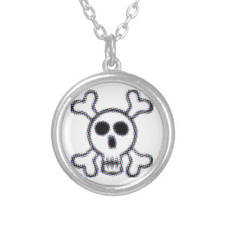Colored Dots Skull and Crossbones Custom Necklace
