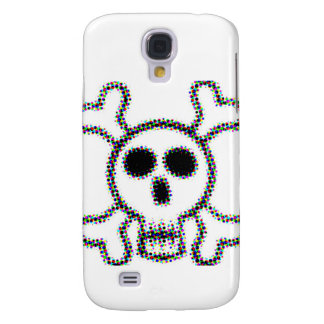 Colored Dots Skull and Crossbones Samsung Galaxy S4 Case