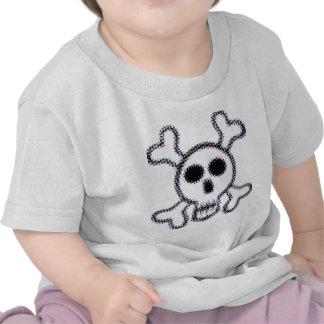 Colored Dots Skull and Crossbones Shirts