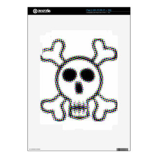 Colored Dots Skull and Crossbones Skins For iPad 2