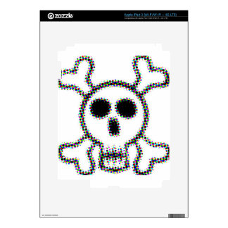 Colored Dots Skull and Crossbones Skins For iPad 3