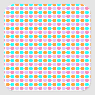 Colored Dots Square Sticker