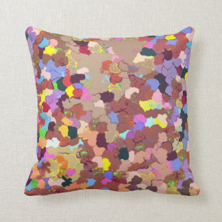 Colored Dots Throw Pillow