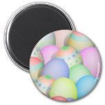 Colored Easter Eggs Background 2 Inch Round Magnet