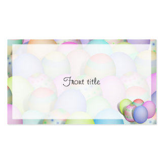 Colored Easter Eggs Background Business Cards