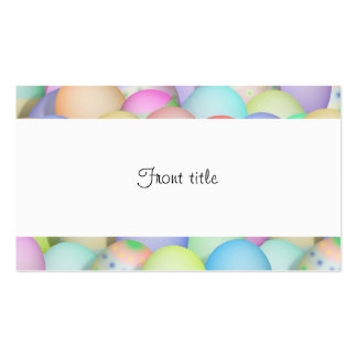 Colored Easter Eggs Background Business Card
