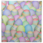 Colored Easter Eggs Background Cloth Napkin