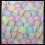 """Colored Easter Eggs Background Cloth Napkin<br><div class=""""desc"""">Pretty pastel colored Easter Eggs - Light colors with shades of blues, pinks, yellows, greens and more. ---- At *I Got Your Back(ground)* Store, you&#39;ll find decorative backgrounds of many kinds, ready for you to add your personal text or photo! Please Click the - IGOTYOURBACK - tag listed below or...</div>"""