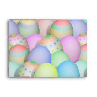 Colored Easter Eggs Background Envelope