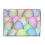 Colored Easter Eggs Background Envelopes