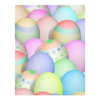 Colored Easter Eggs Background Flyer