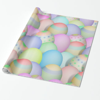 Colored Easter Eggs Background Gift Wrapping Paper