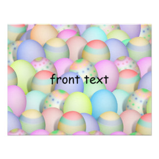 Colored Easter Eggs Background Invite