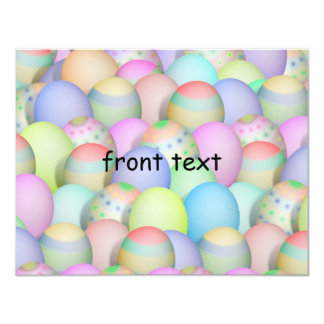 Colored Easter Eggs Background 4.25x5.5 Paper Invitation Card
