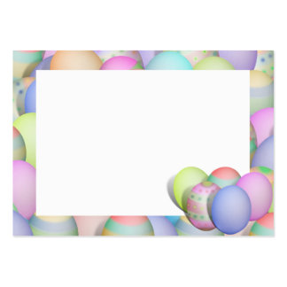 Colored Easter Eggs Background Large Business Card