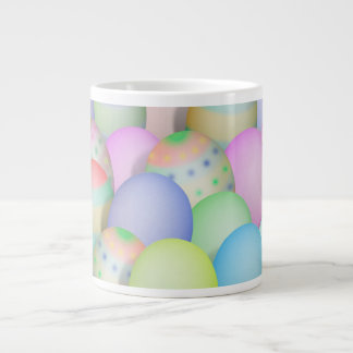 Colored Easter Eggs Background Large Coffee Mug