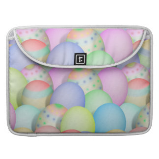 Colored Easter Eggs Background Sleeve For MacBooks