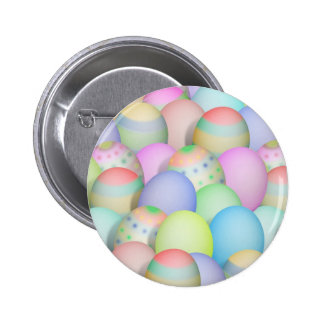 Colored Easter Eggs Background Pinback Button