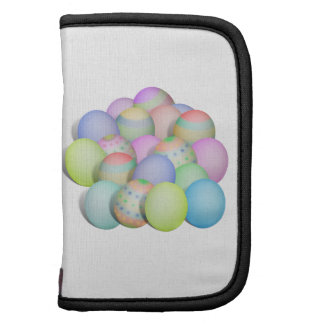 Colored Easter Eggs Background Folio Planner
