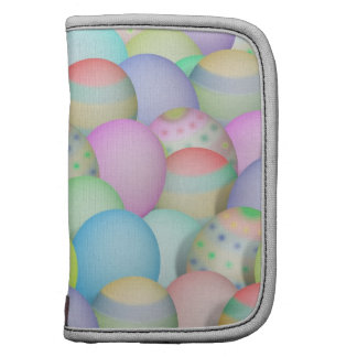 Colored Easter Eggs Background Organizer