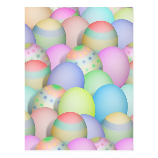 Colored Easter Eggs Background Postcard