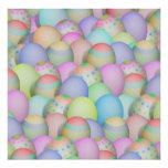 Colored Easter Eggs Background Posters