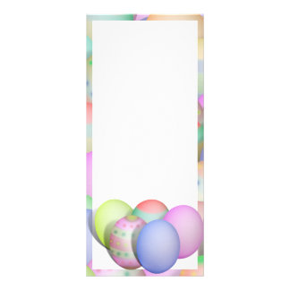 Colored Easter Eggs Background Rack Card