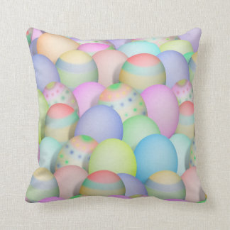 Colored Easter Eggs Background Throw Pillow
