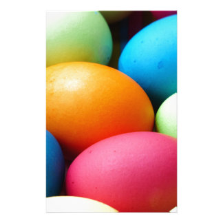 Colored Easter Eggs, dyed, colorful Stationery