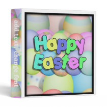 Colored Easter Eggs - Happy Easter Binder