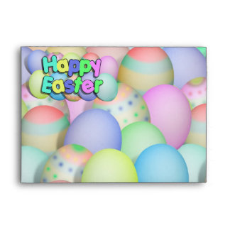 Colored Easter Eggs - Happy Easter Envelope