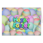 Colored Easter Eggs - Happy Easter Greeting Card